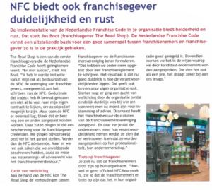 Artikel NFC over franchise